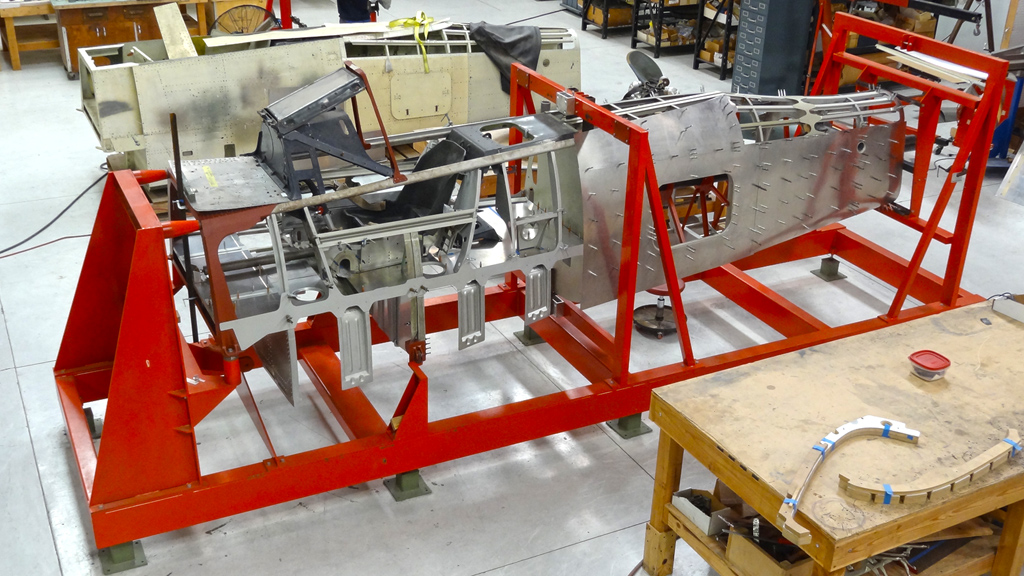 The Focke-Wulf Fw 190F-8 fuselage is currently being restored