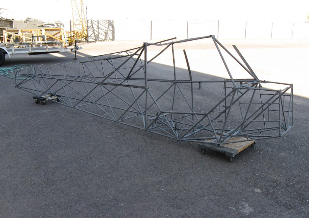 Piper L-4 frame, after beadblast