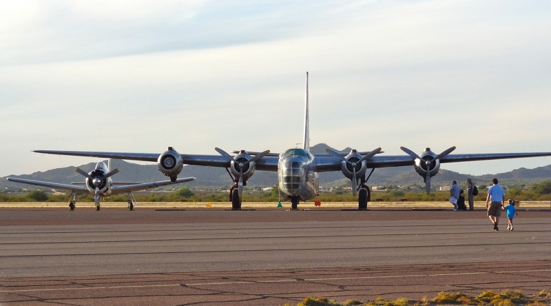 PB4Y-2 and T-28 at Copperstate