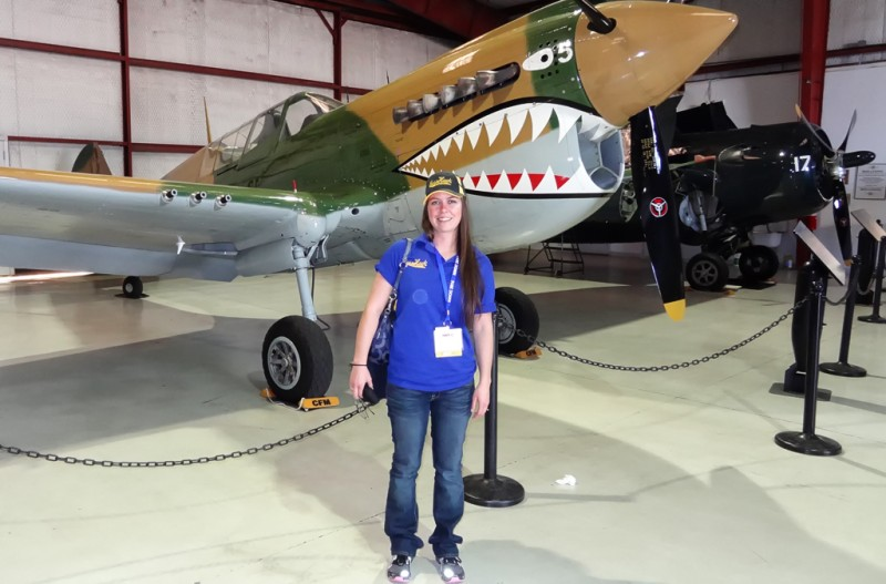 5 Lindsey Goss with Curtiss P-40